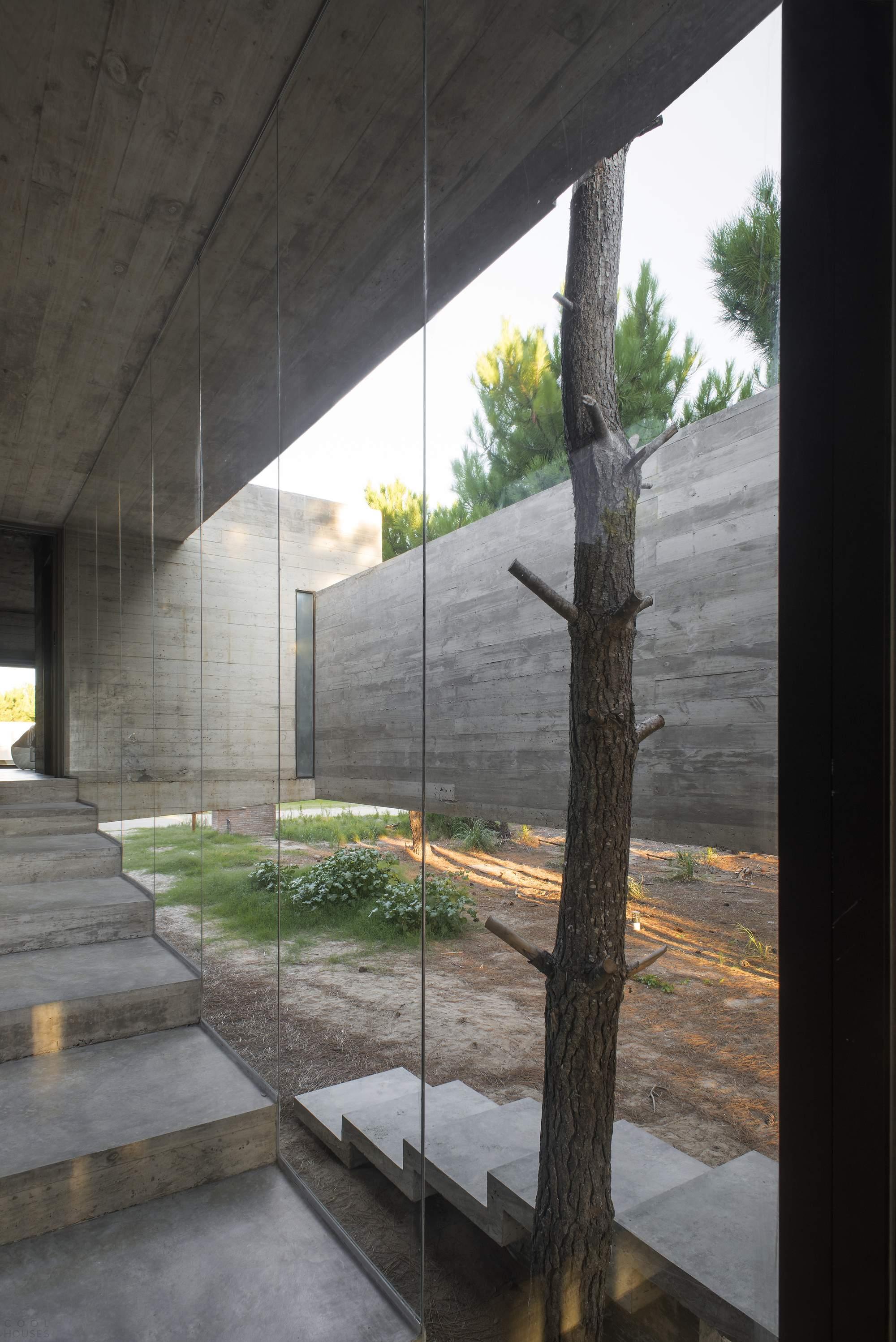 Бетонный дом для загородного отдыха в Аргентине