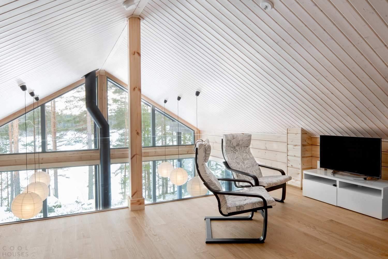 Бревенчатая энергоэффективная вилла в Финляндии