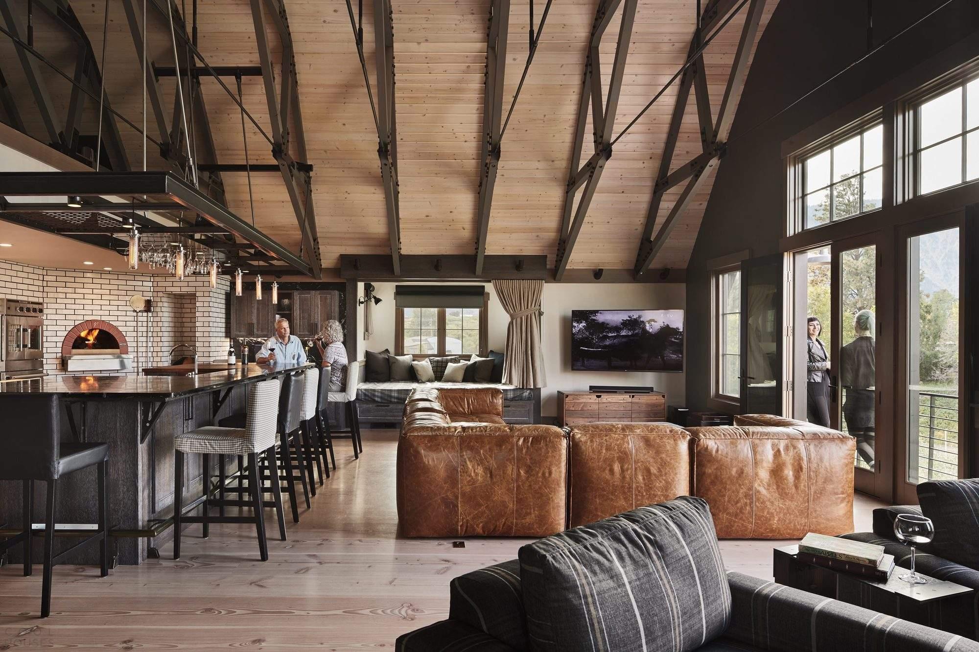 Дом-отель в стиле Барнхаус в США