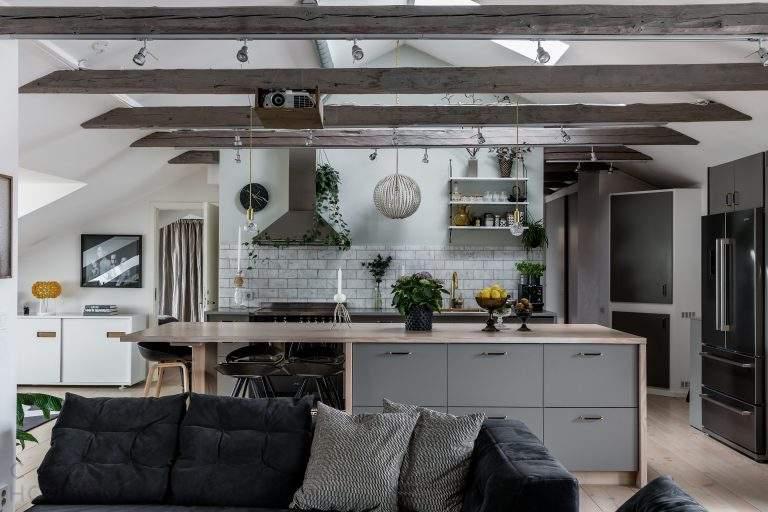 Мансардная квартира в Стокгольме, Швеция