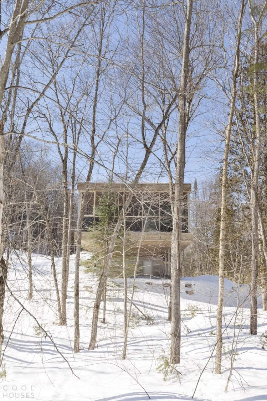 Современный загородный дом в лесу, Канада