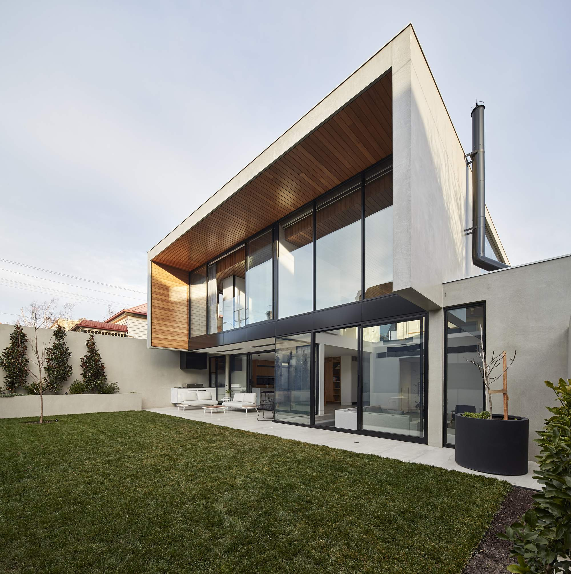 Семейный дом с минималистическим дизайном в Австралии