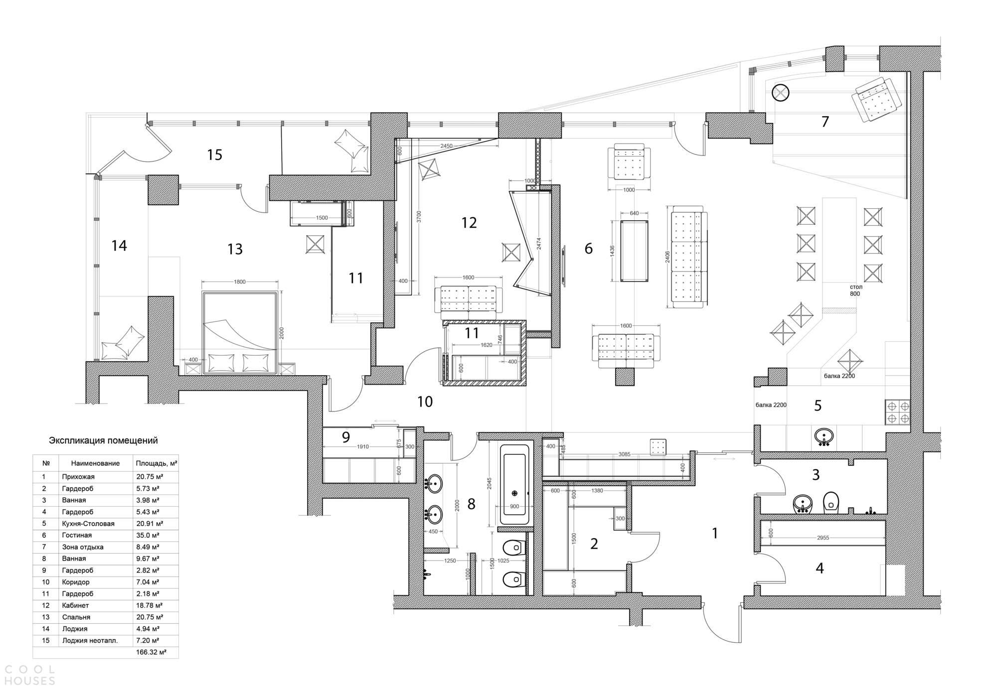 Брутальная квартира с серыми интерьерами, Россия