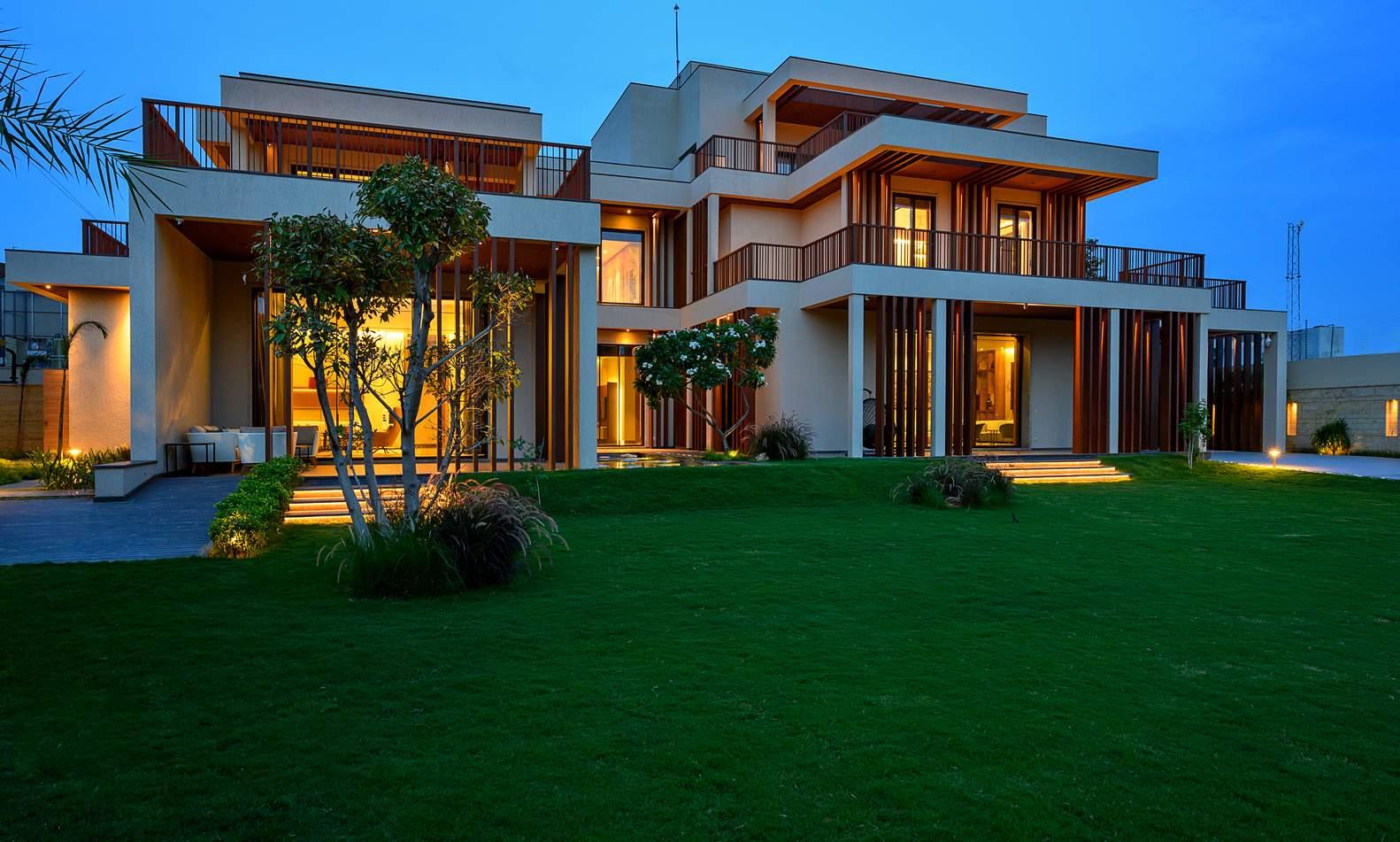 Семейная вилла с интенсивной пространственной динамикой, Индия
