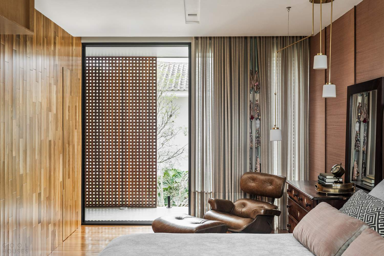 Семейный дом с эффектным дизайном, Бразилия