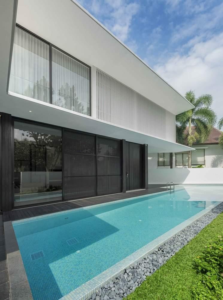 Стильный дом с элегантными пространствами, Сингапур
