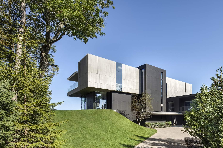 Вилла с современным дизайном на берегу озера Гурон, Канада