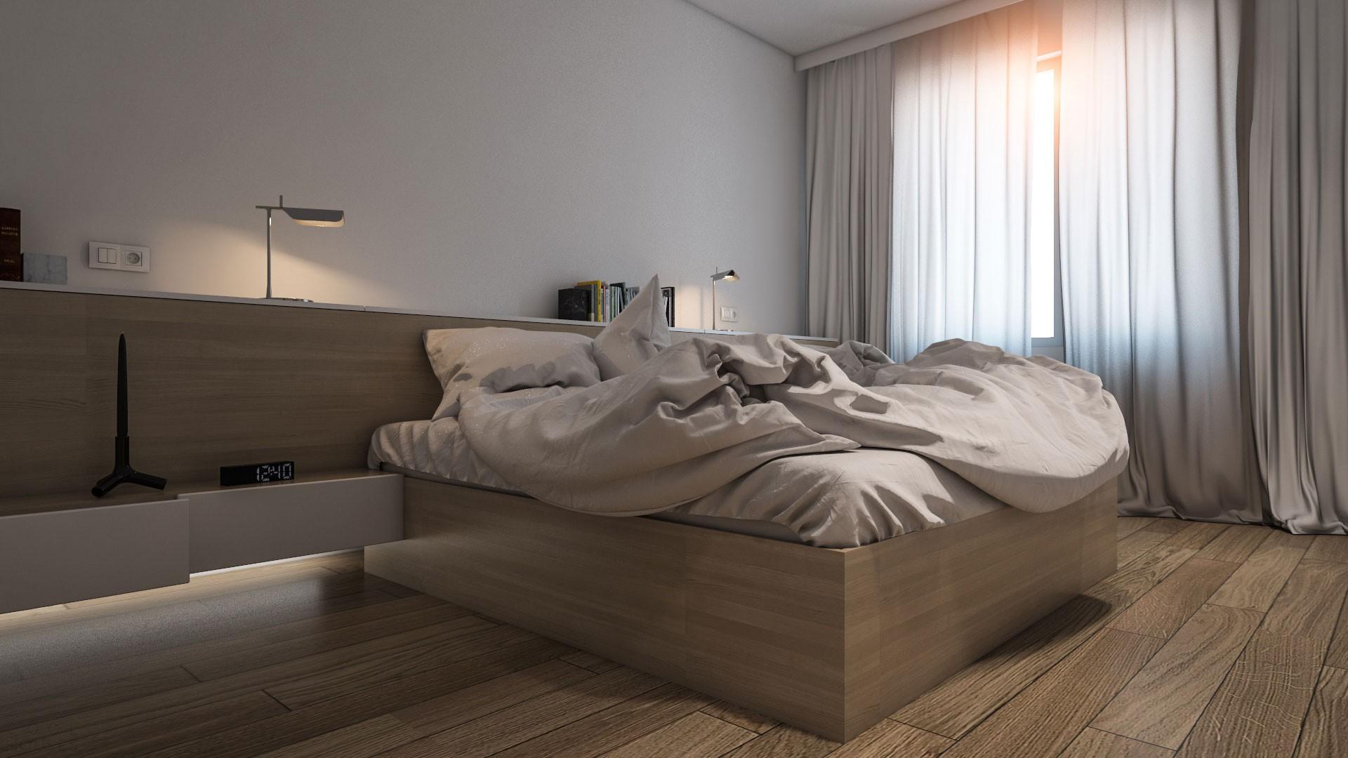 Светлая и уютная квартира в бледной палитре
