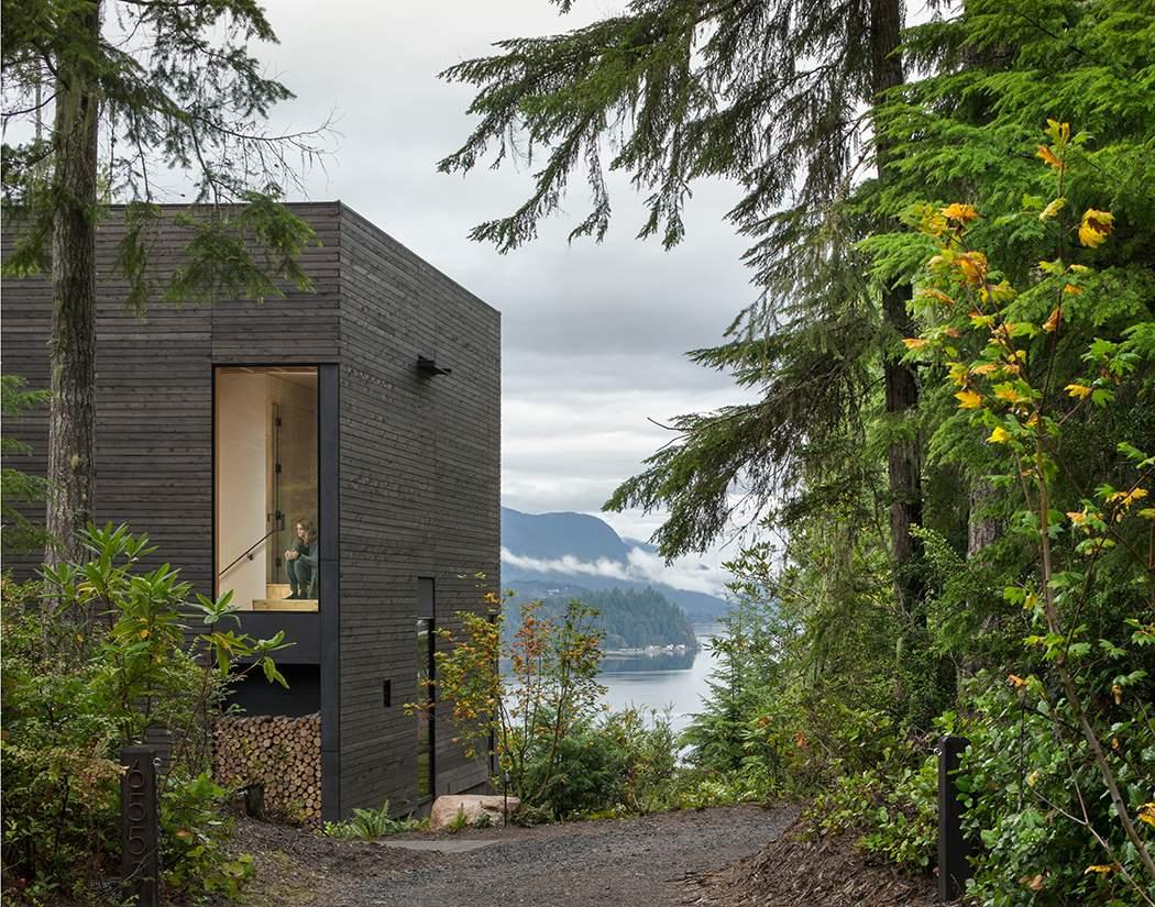 «Маленький домик» в лесу над фьордом, США