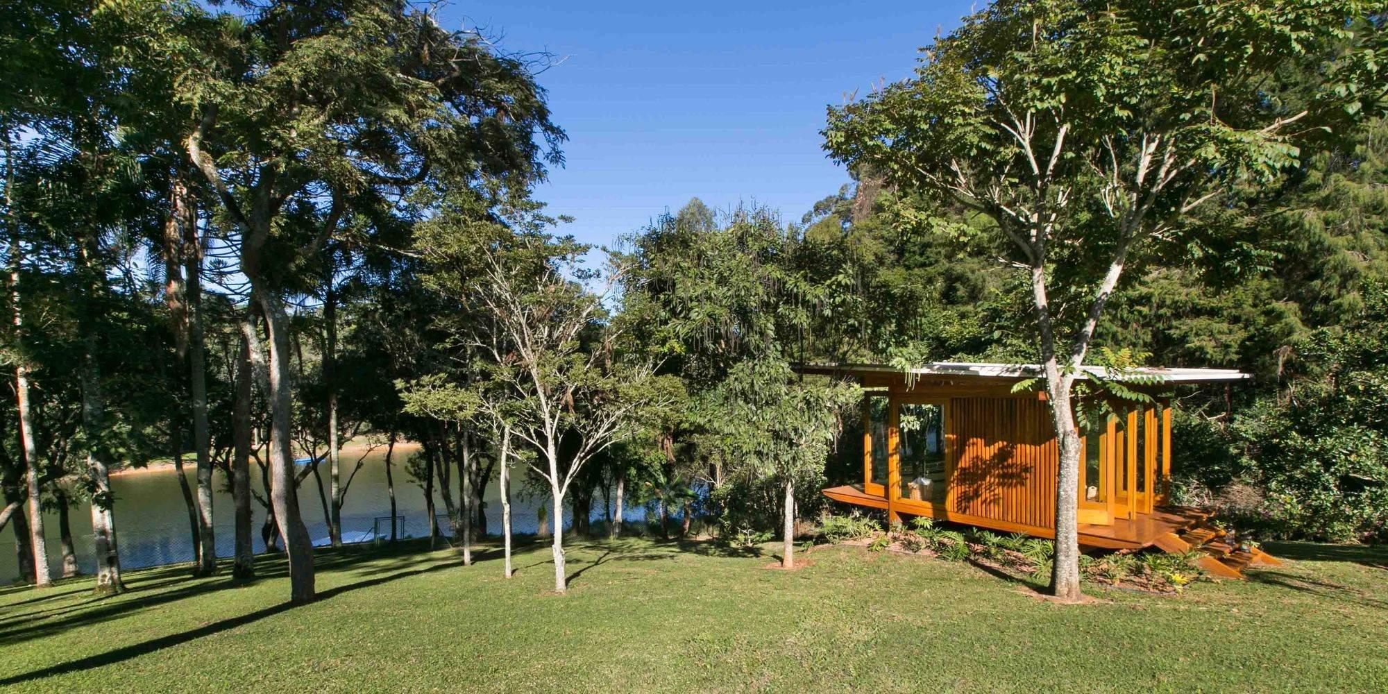 Деревянный павильон для медитации, Бразилия