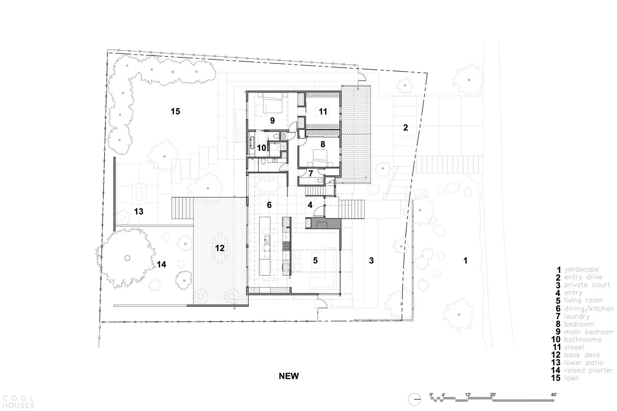 Реконструкция дома в стиле ранчо, США