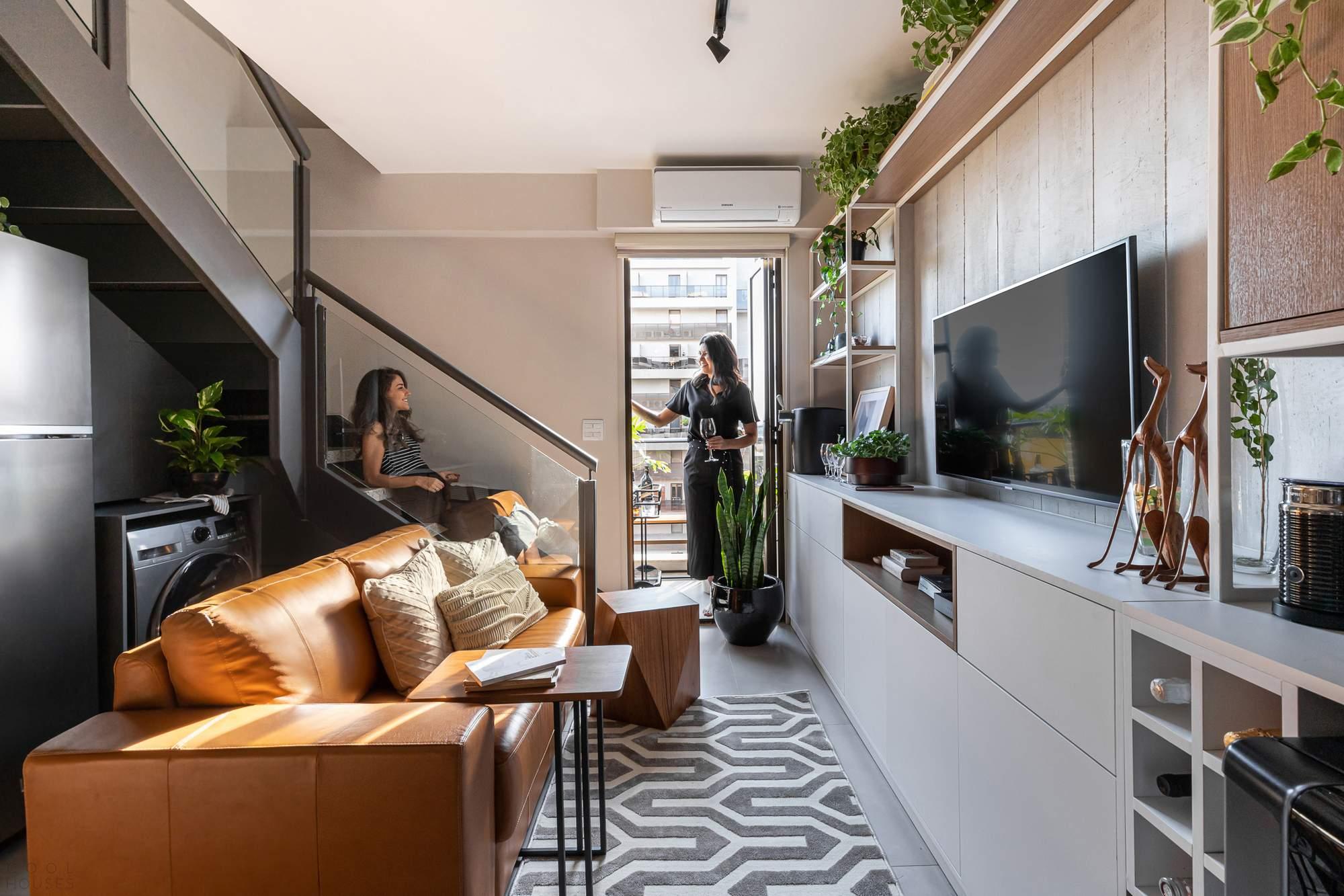 Квартира-лофт с многофункциональным дизайном, Бразилия