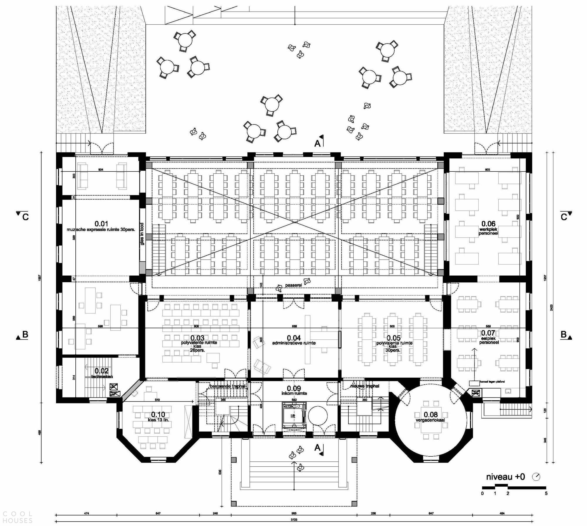 Преобразование исторического замка в школу с комфортной образовательной средой