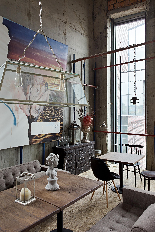 Ресторан Door19 с креативным интерьером в Москве