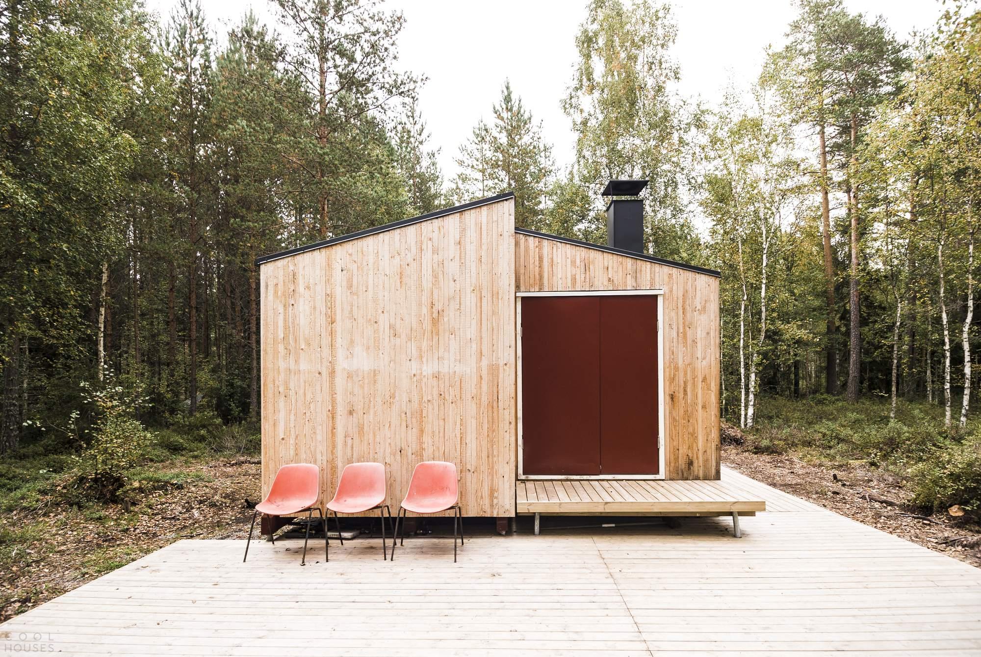 Деревянный домик, сделанный своими руками, Финляндия