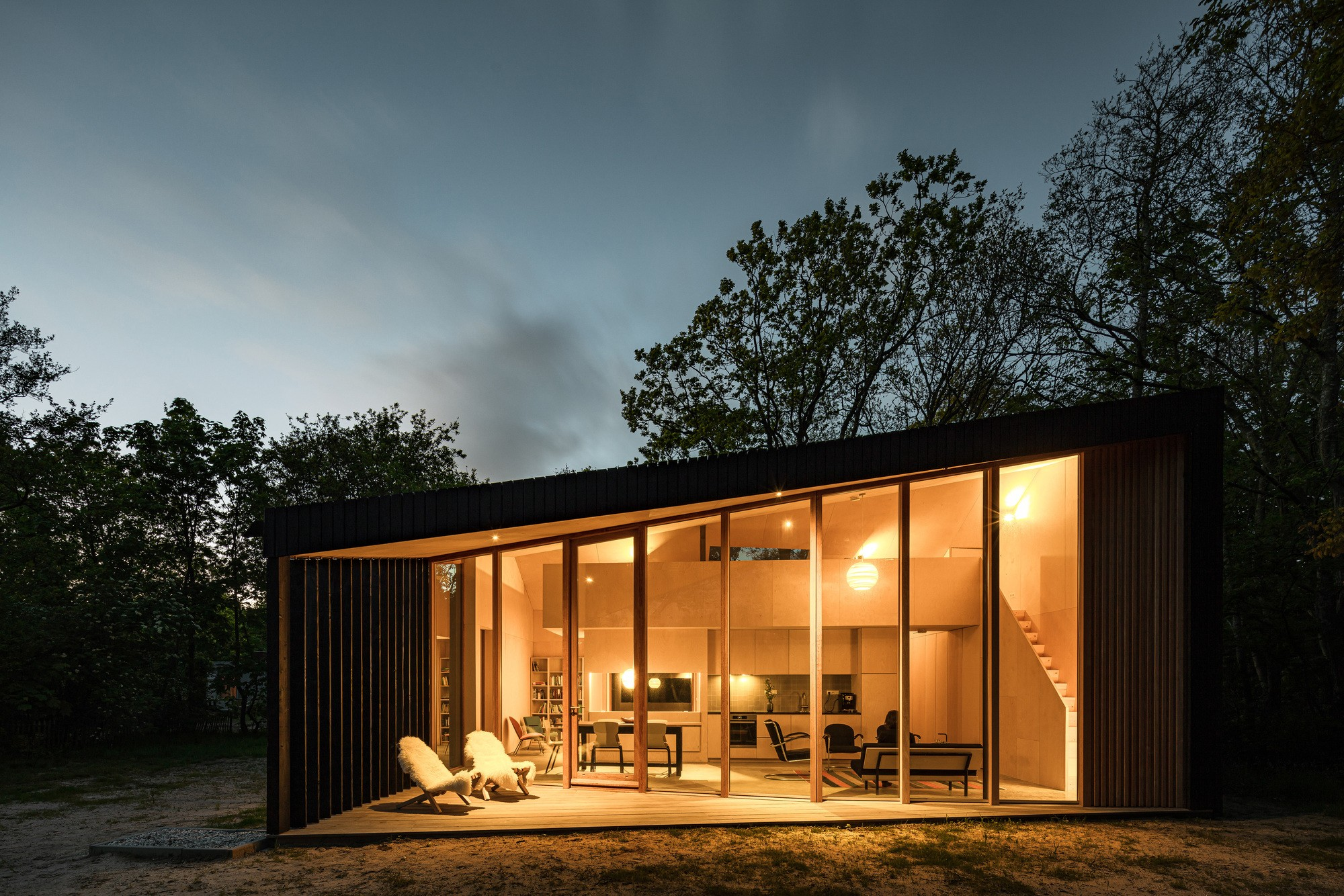 Дом для отпуска с трансформируемыми пространствами