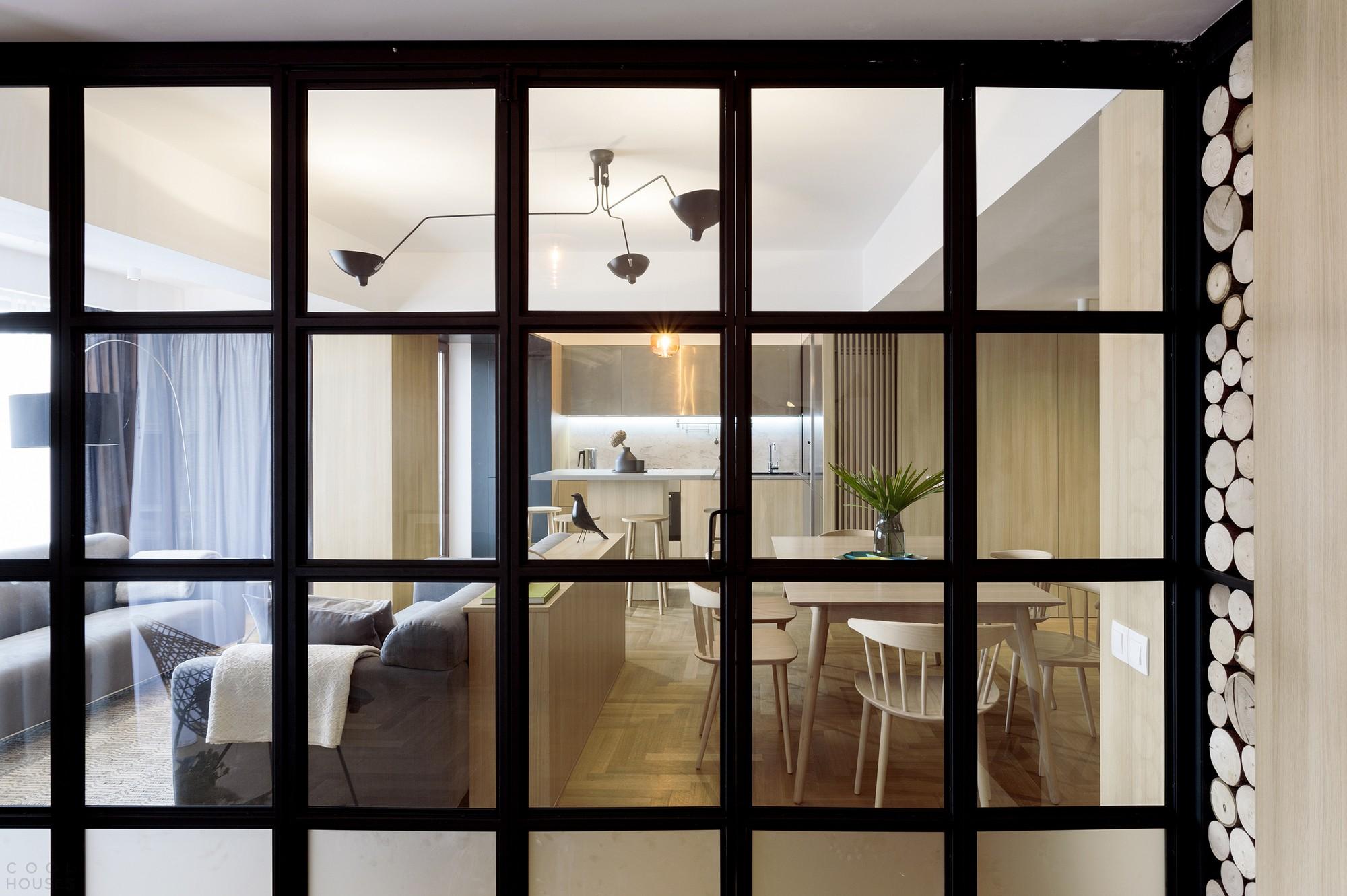 Современные апартаменты в стиле минимализма в центре Бухареста