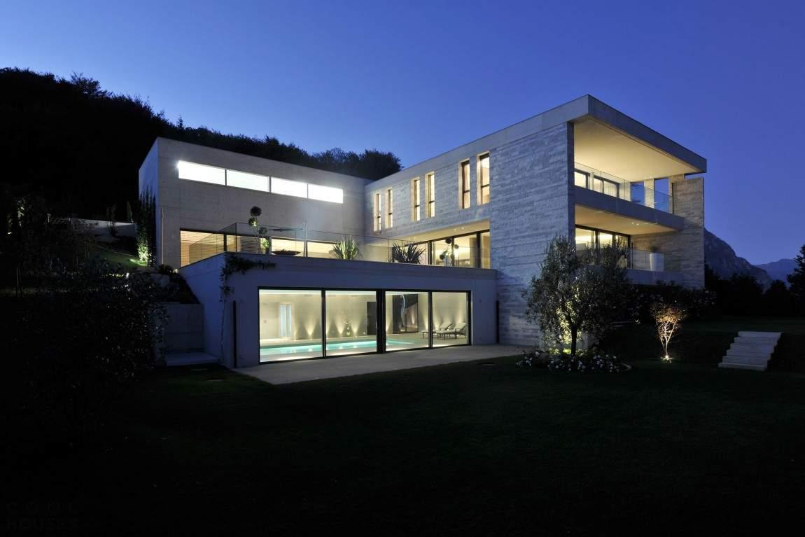 Бетонная вилла в Швейцарии