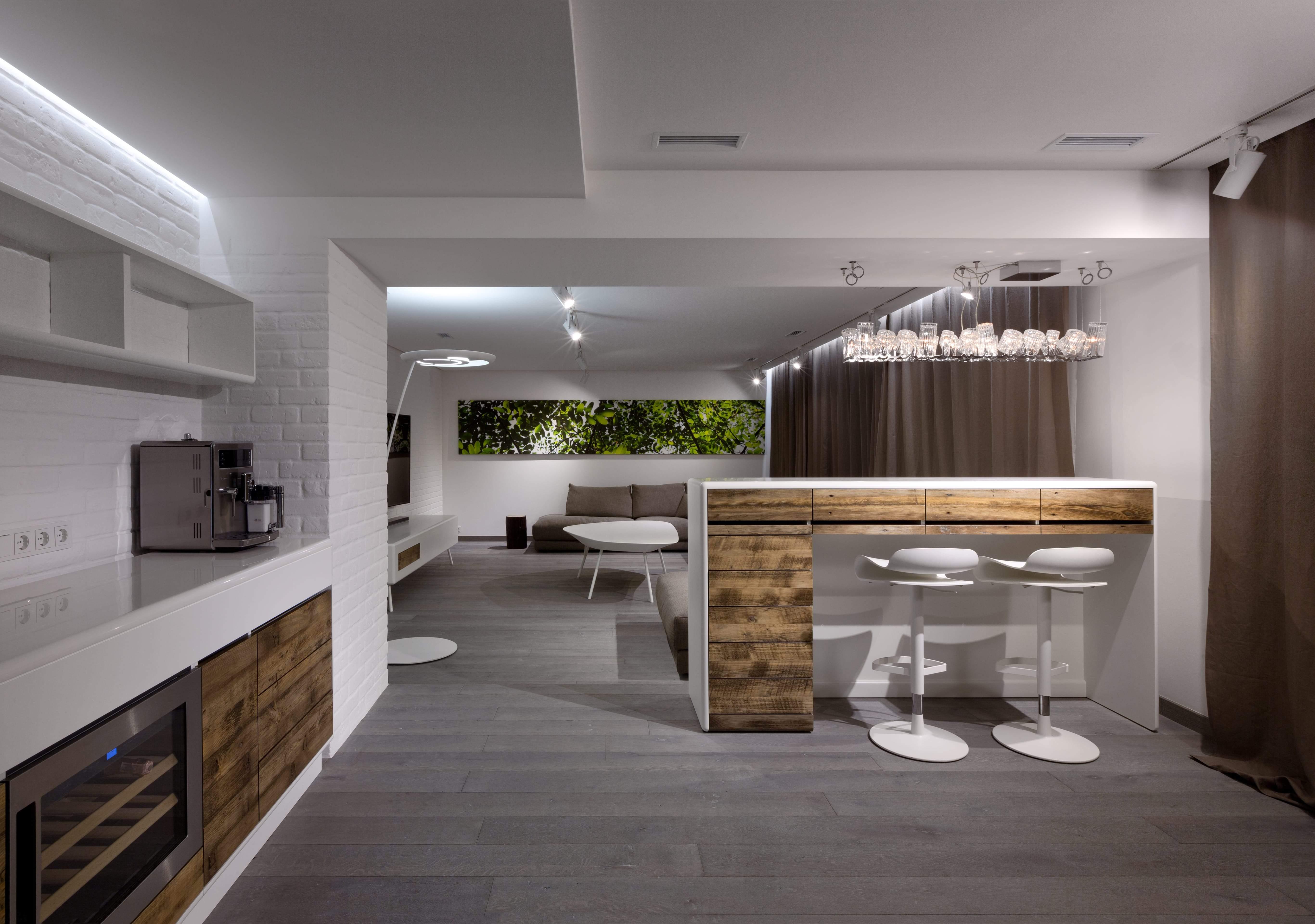 Стильная четырёхуровневая квартира в Киеве, Украина