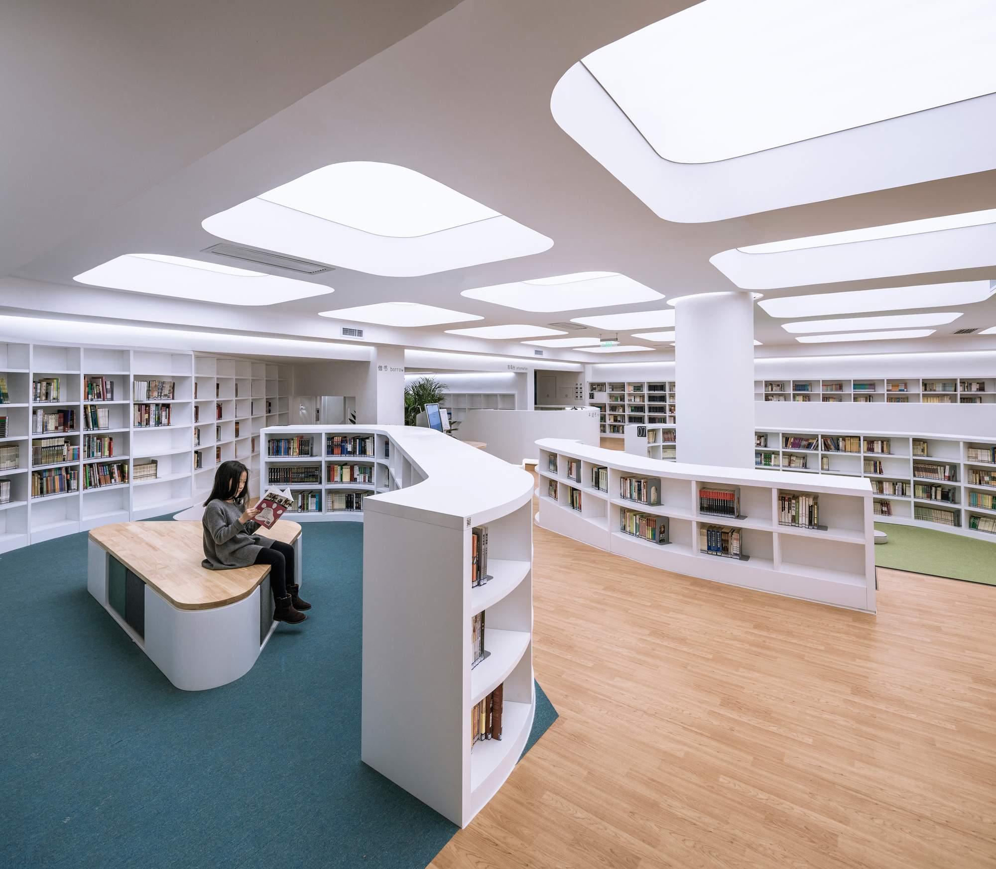 Реконструкция школьной библиотеки в Пекине, Китай