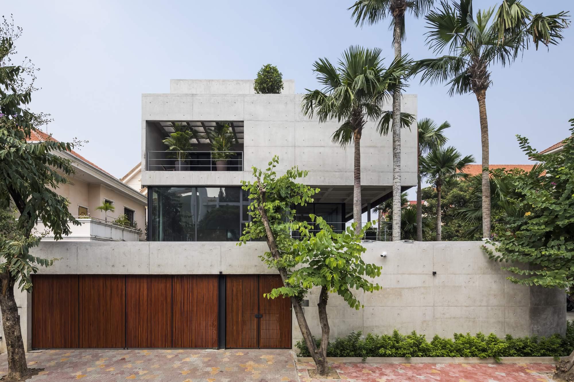 Дом-бункер с грубой бетонной конструкцией, Вьетнам