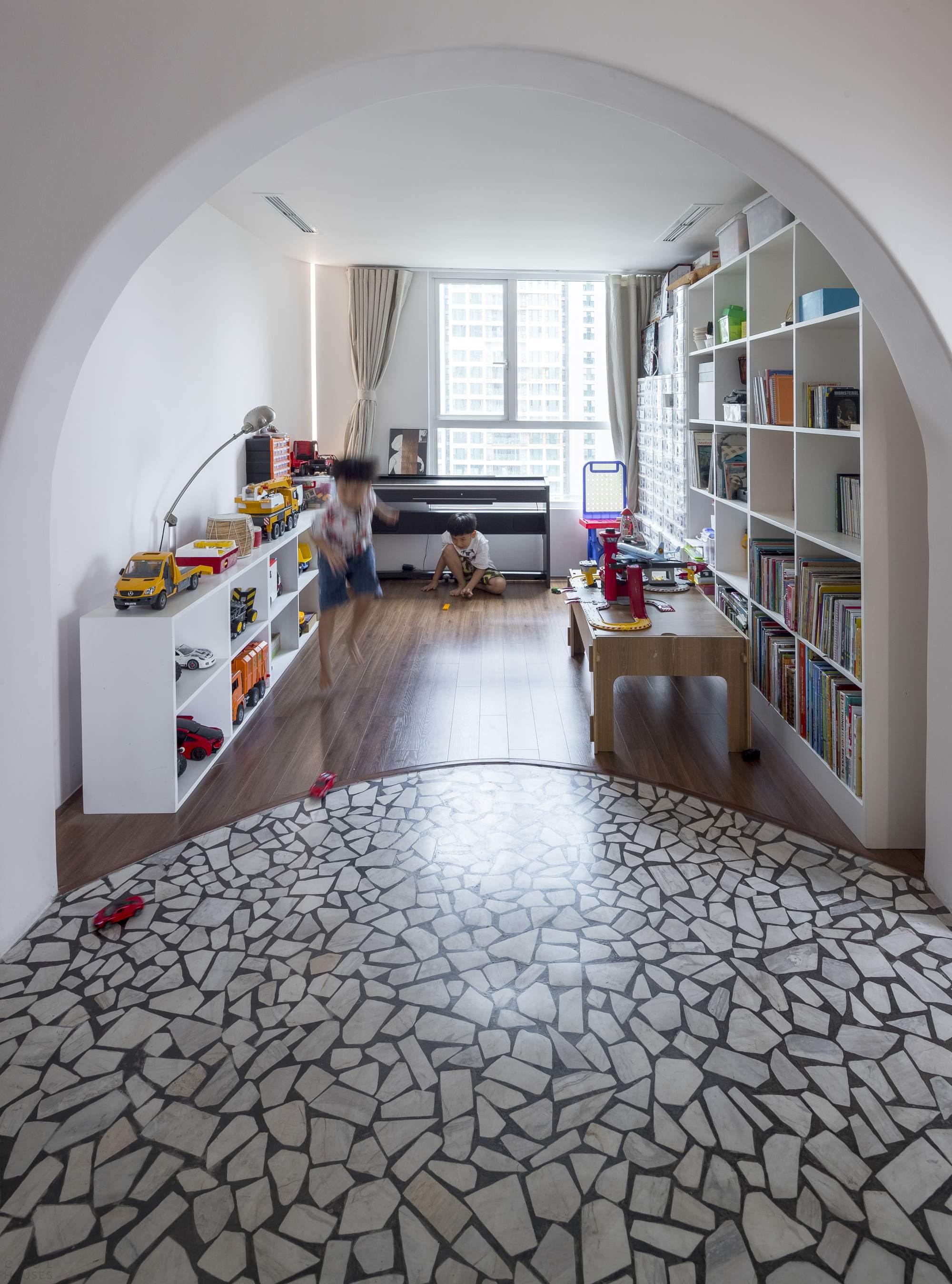 Двухуровневые апартаменты с модернистскими мотивами, Вьетнам