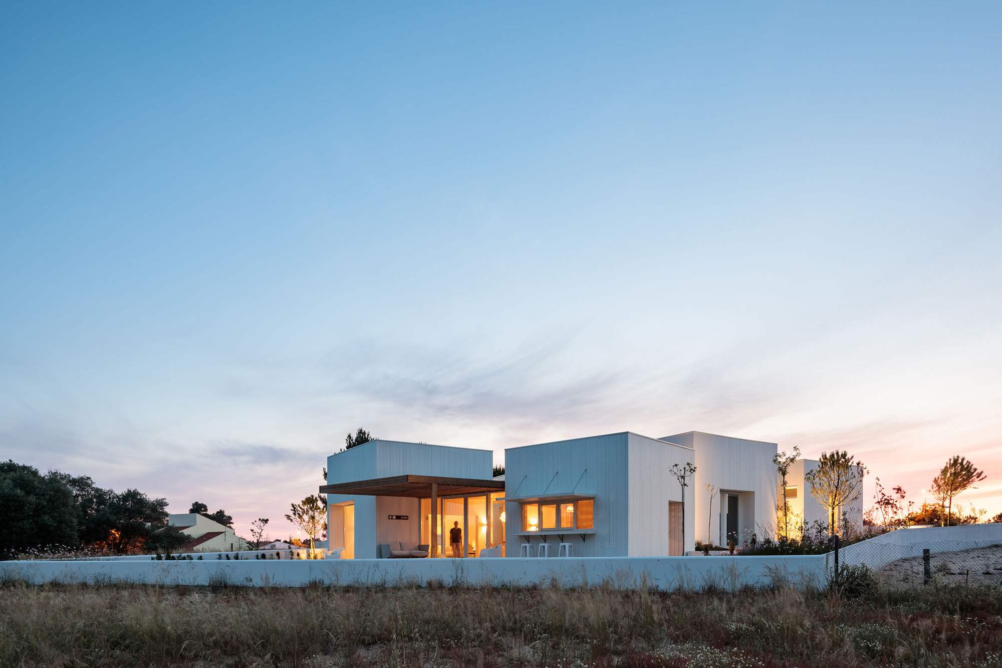 Пляжный дом на побережье Атлантического океана, Португалия