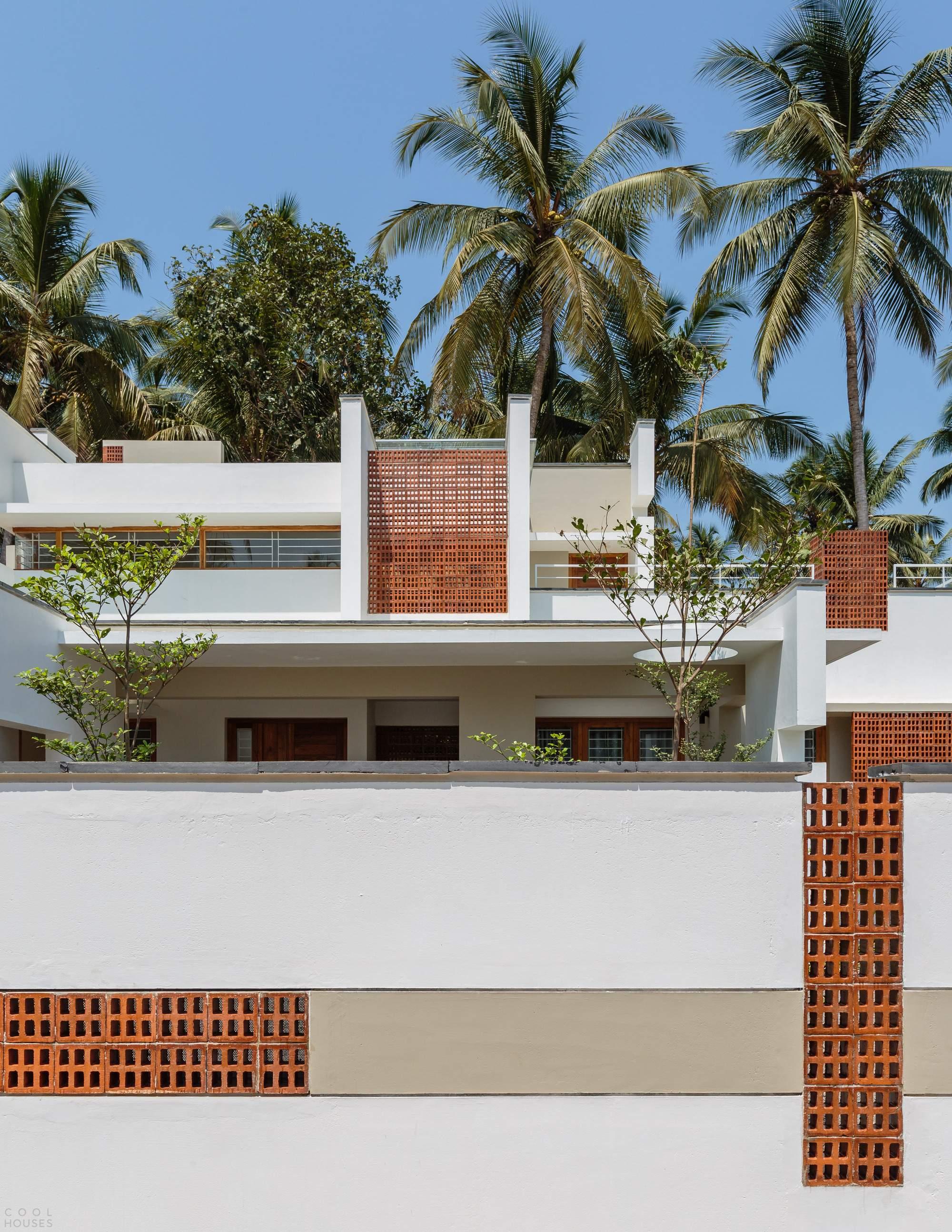 Резиденция, демонстрирующая игру архитектурных объемов, Индия