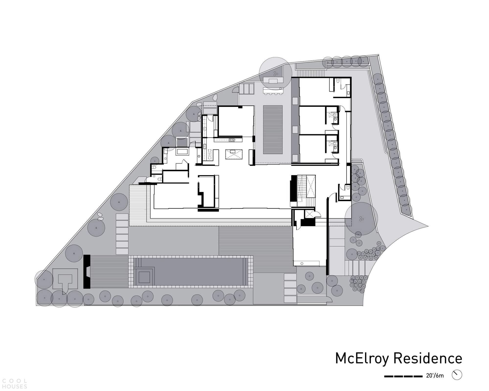 Роскошный калифорнийский дом с открытой архитектурой, США