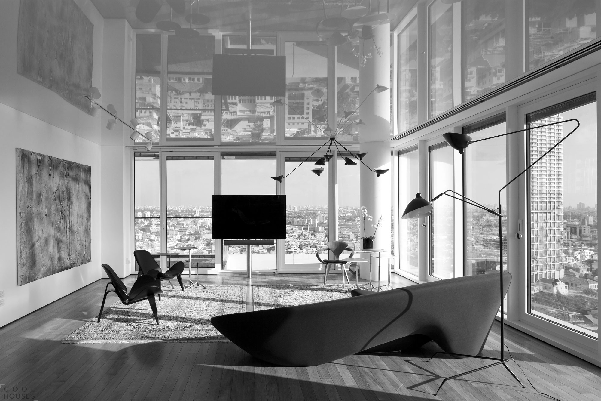 Красивый интерьер квартиры в Тель-Авиве, Израиль