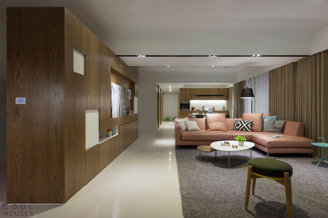 Квартира с современным интерьером от студии KC Design Studio