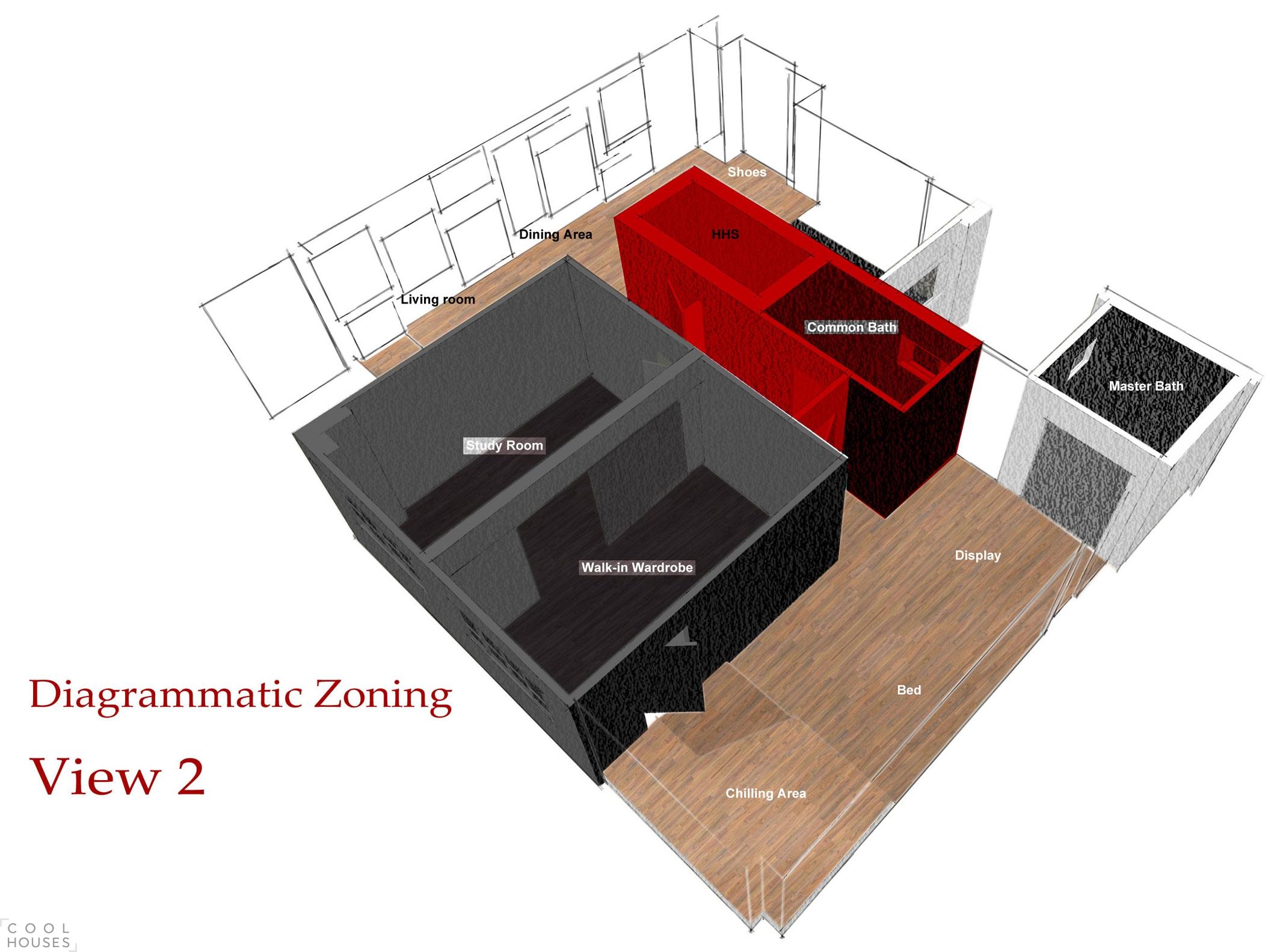 Оригинальный интерьер квартиры в темных тонах по проекту HUE D
