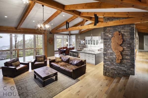 Потрясающая загородная вилла в стиле ранчо в Канаде