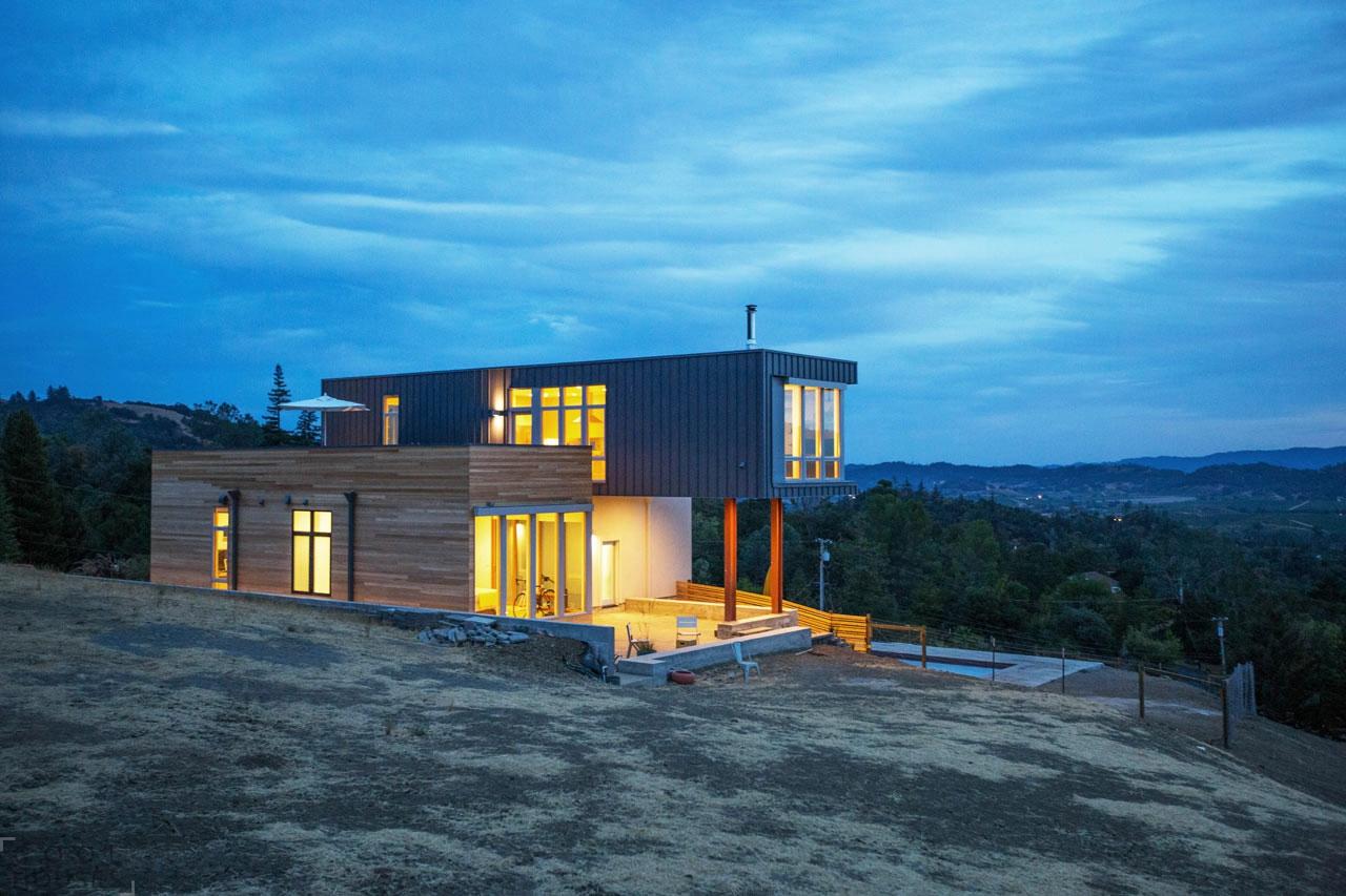 Проект современного стильного дома в Калифорнии