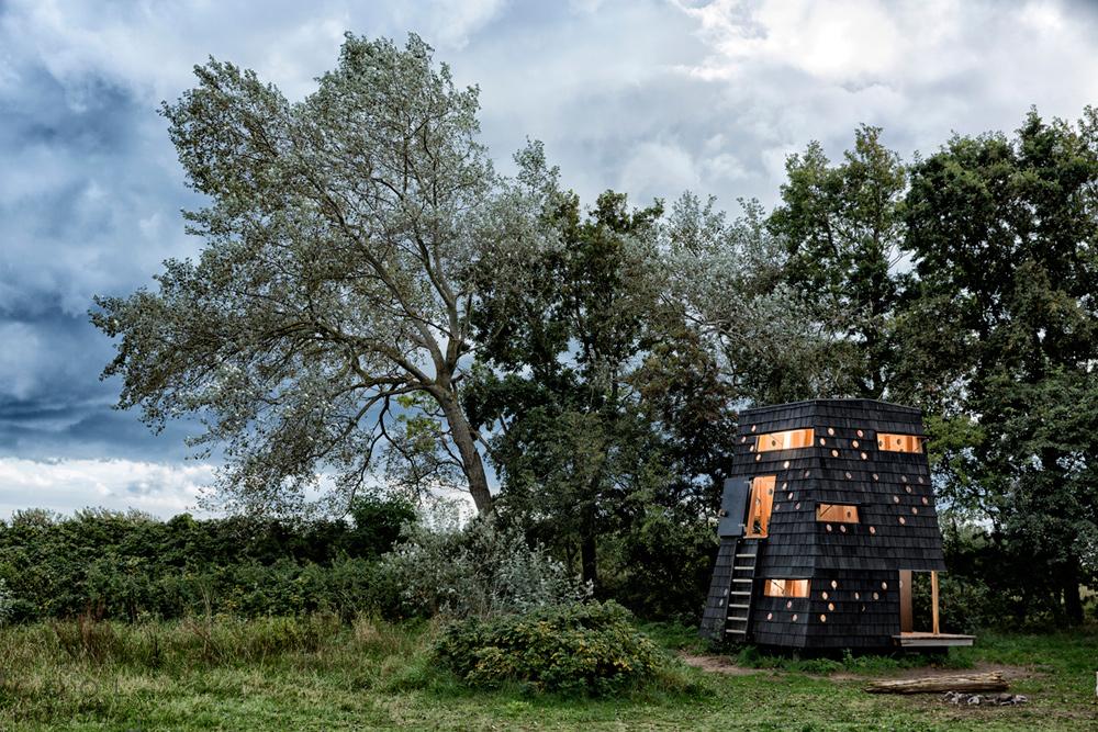 Деревянные дома-приюты на побережье архипелага Южный Фюн, Дания