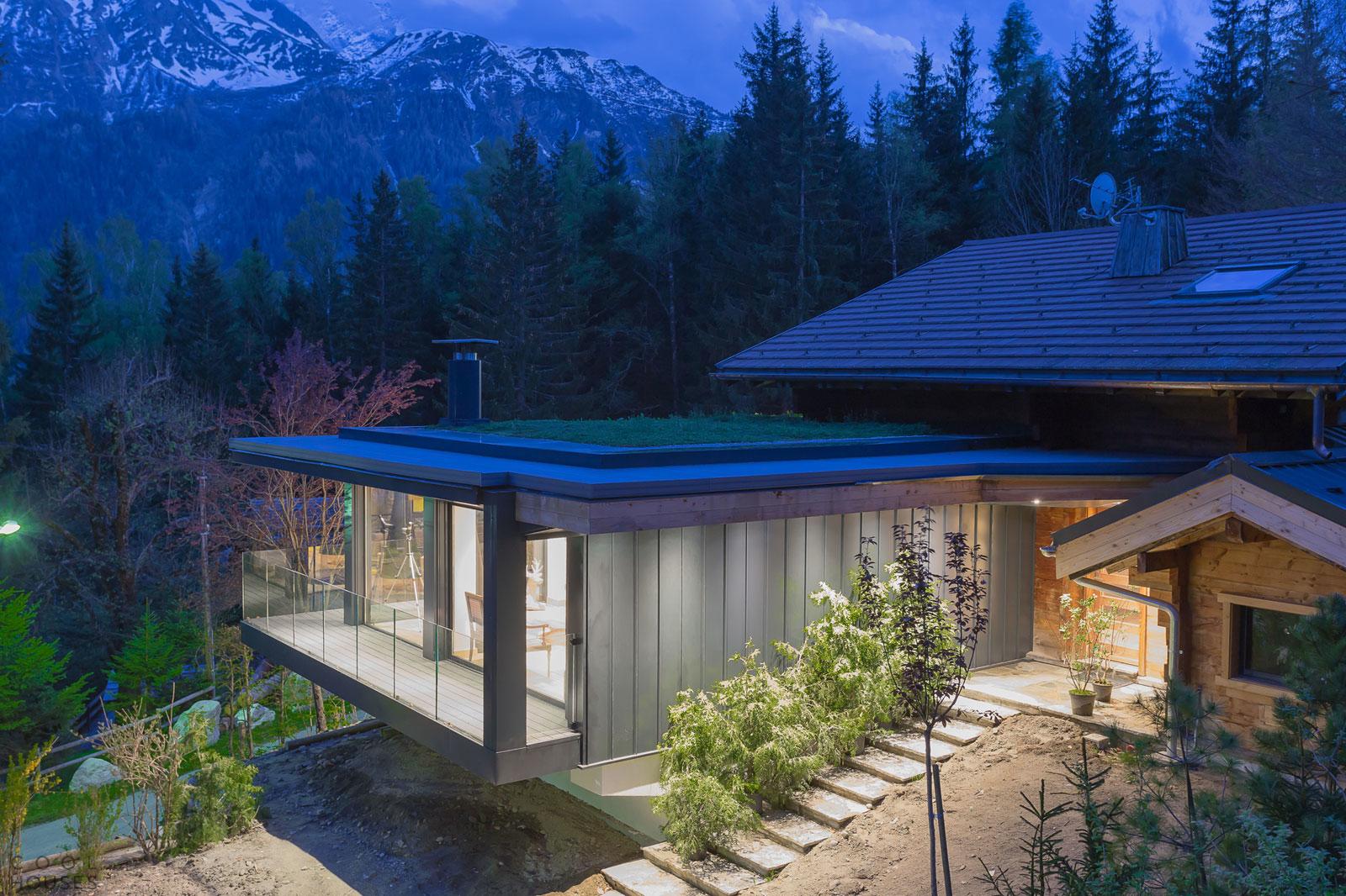 Современный особняк во Французских Альпах