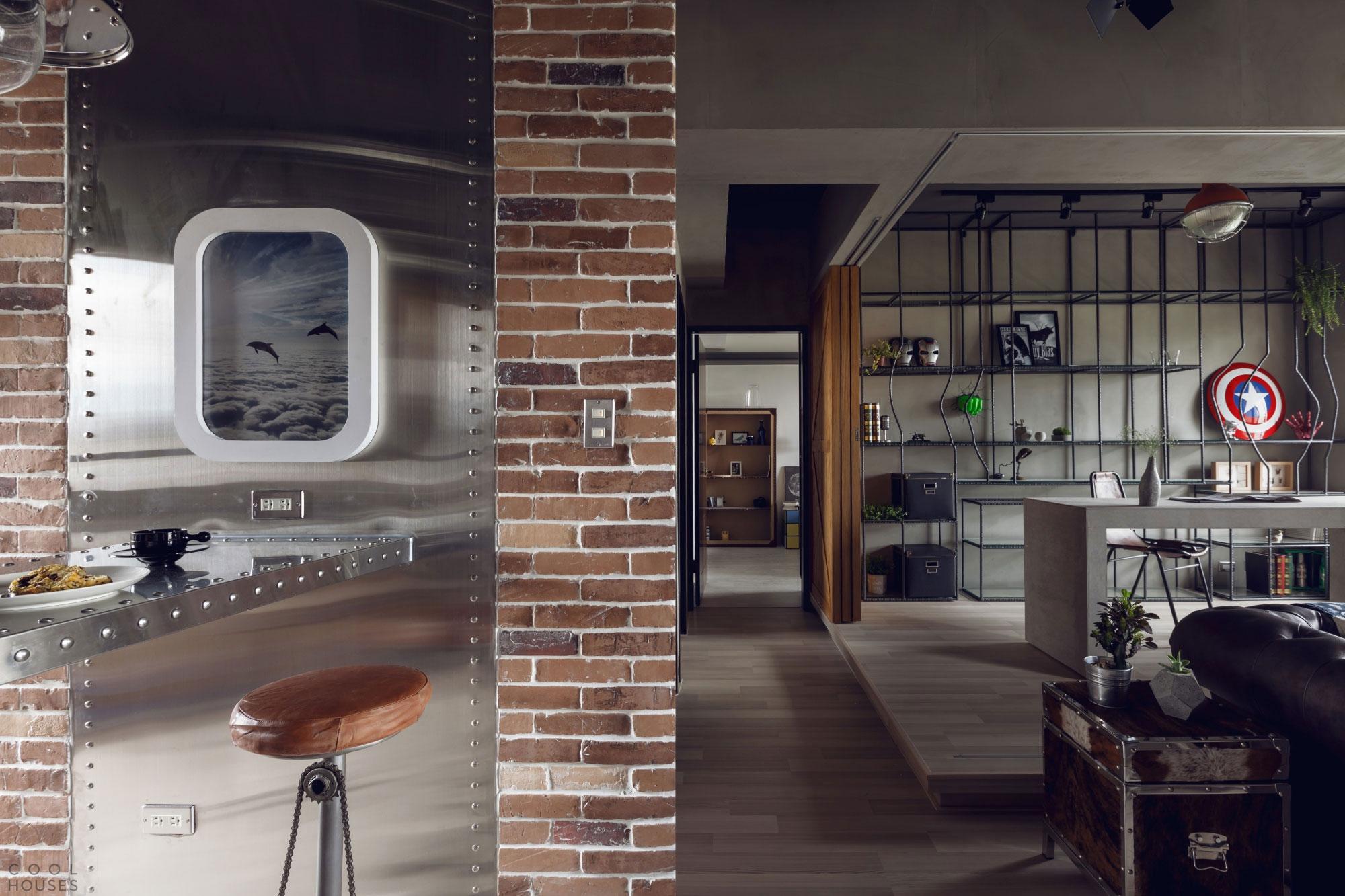 Идеи для мужского интерьера - квартира от студии House Design Studio