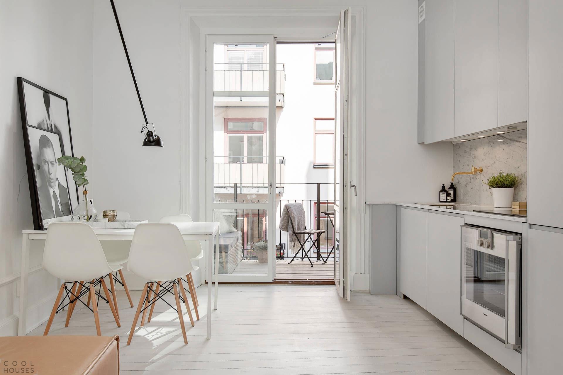 Очаровательная двухкомнатная квартира в Швеции
