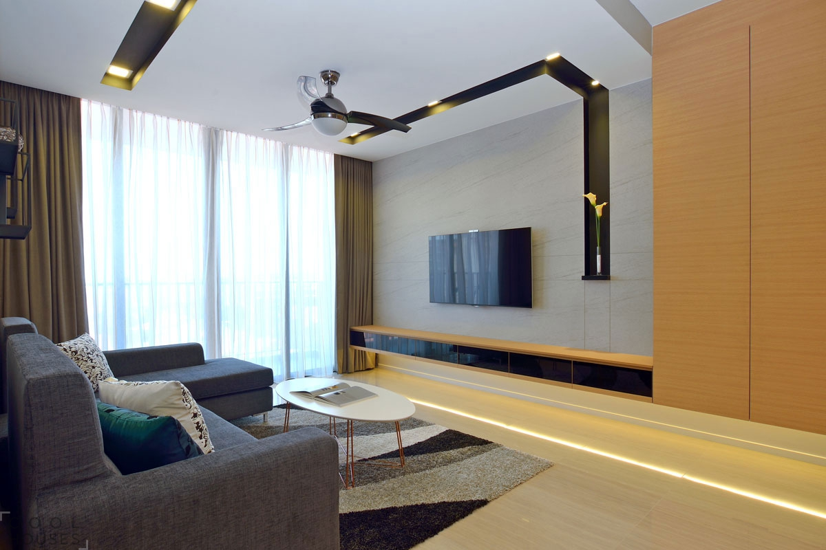 Современная уютная квартира для небольшой семьи