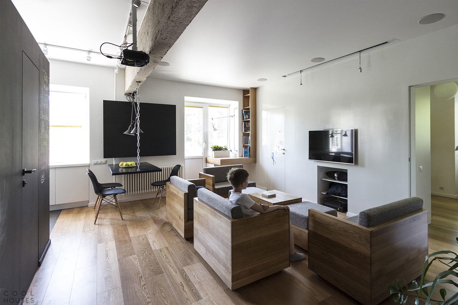 Дизайн квартиры в Москве в стиле функционального минимализма
