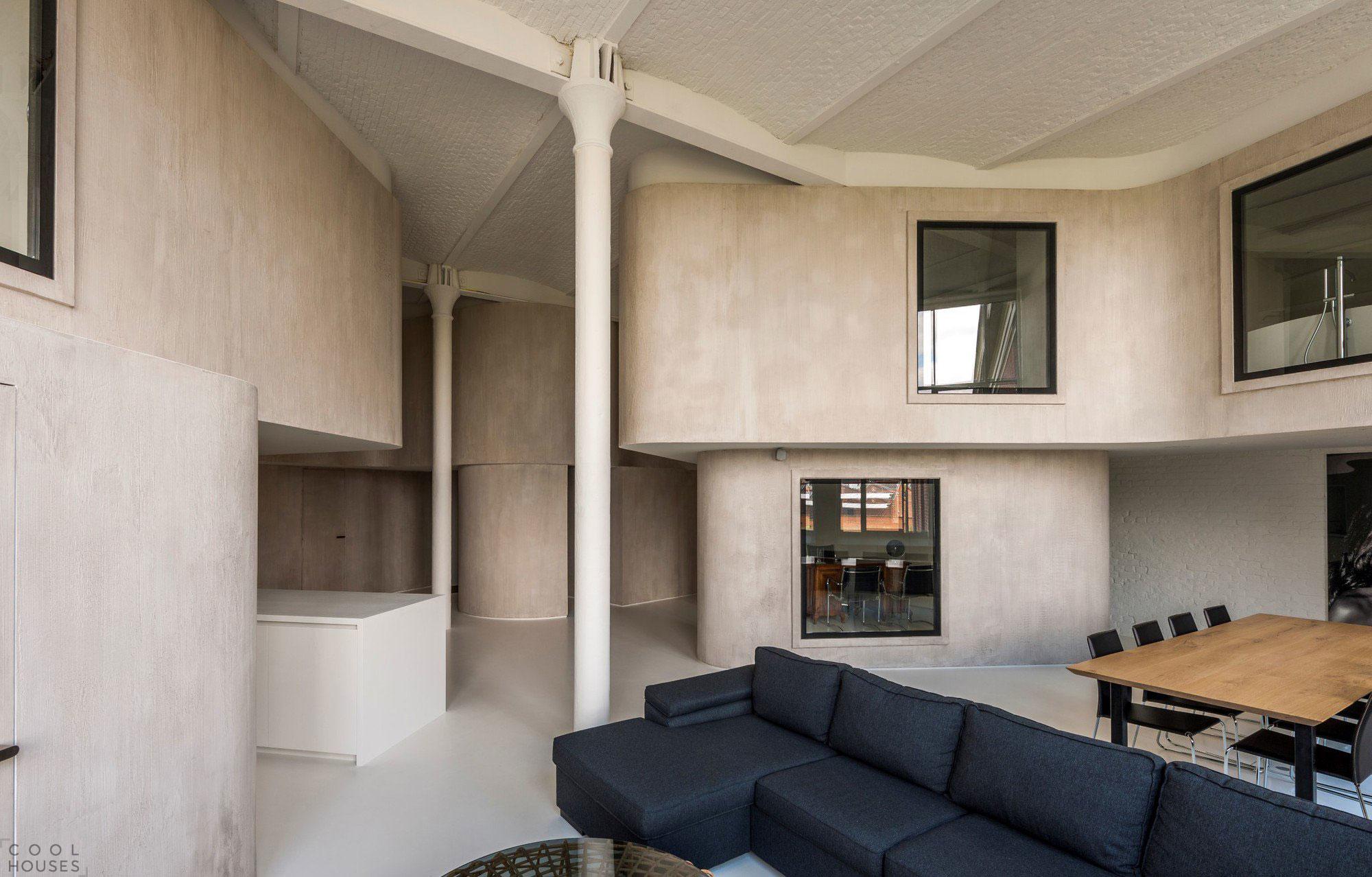 Креативная квартира в стиле лофт в Бельгии