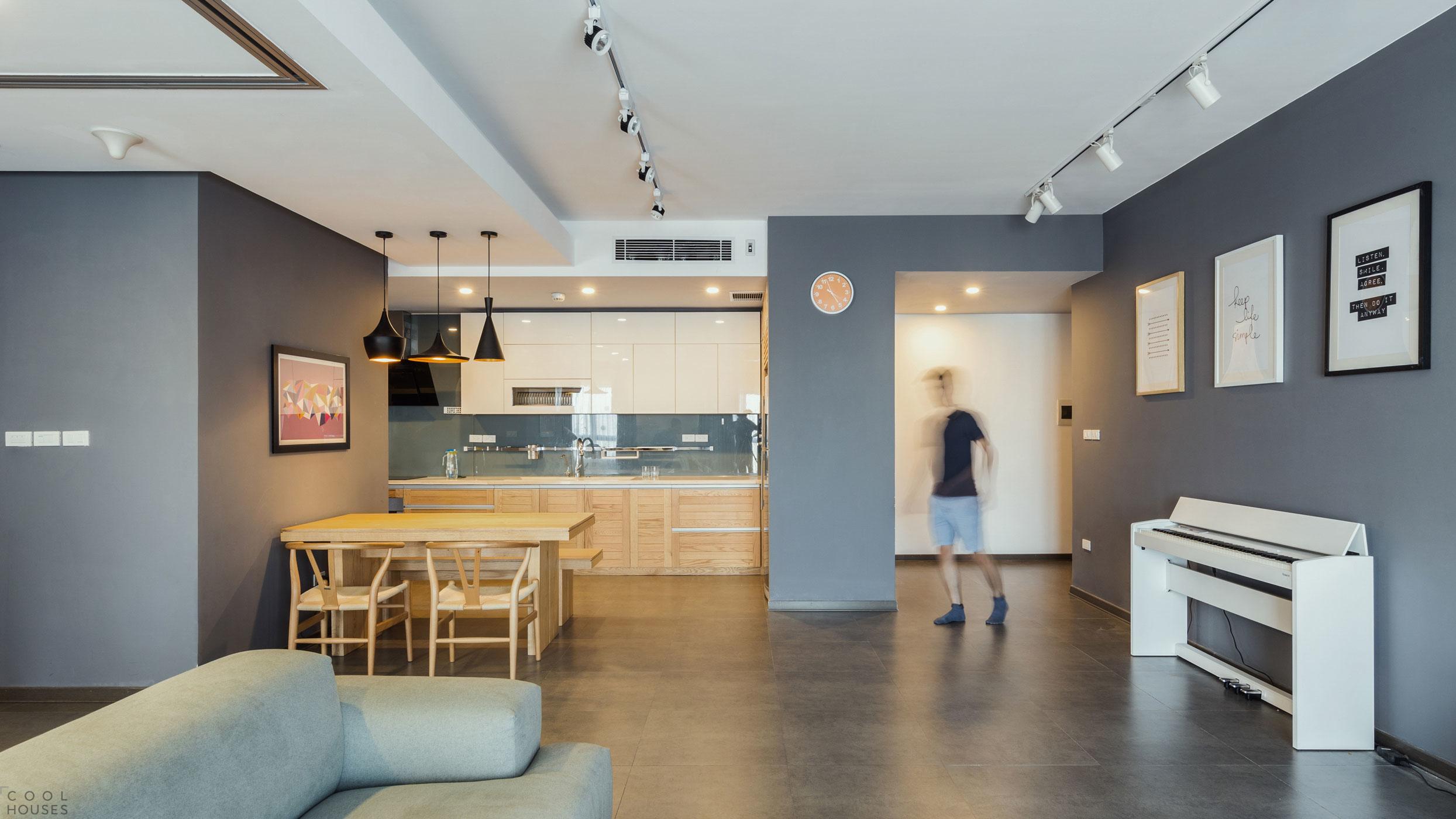 Небольшая квартира с модульным дизайном в Ханое