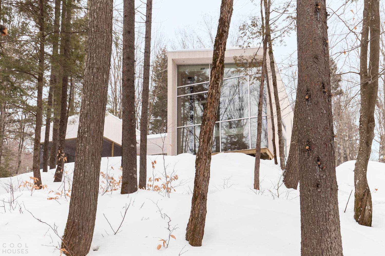 Современный стильный дом в лесах Канады
