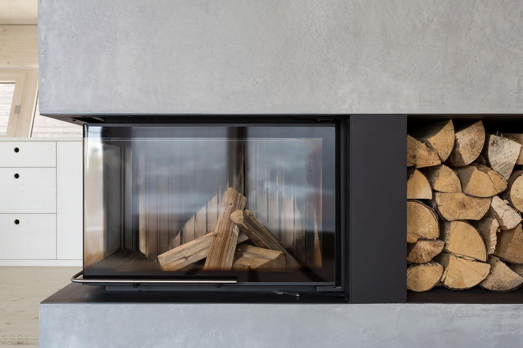 Загородный деревянный дом в стиле минимализма в Германии