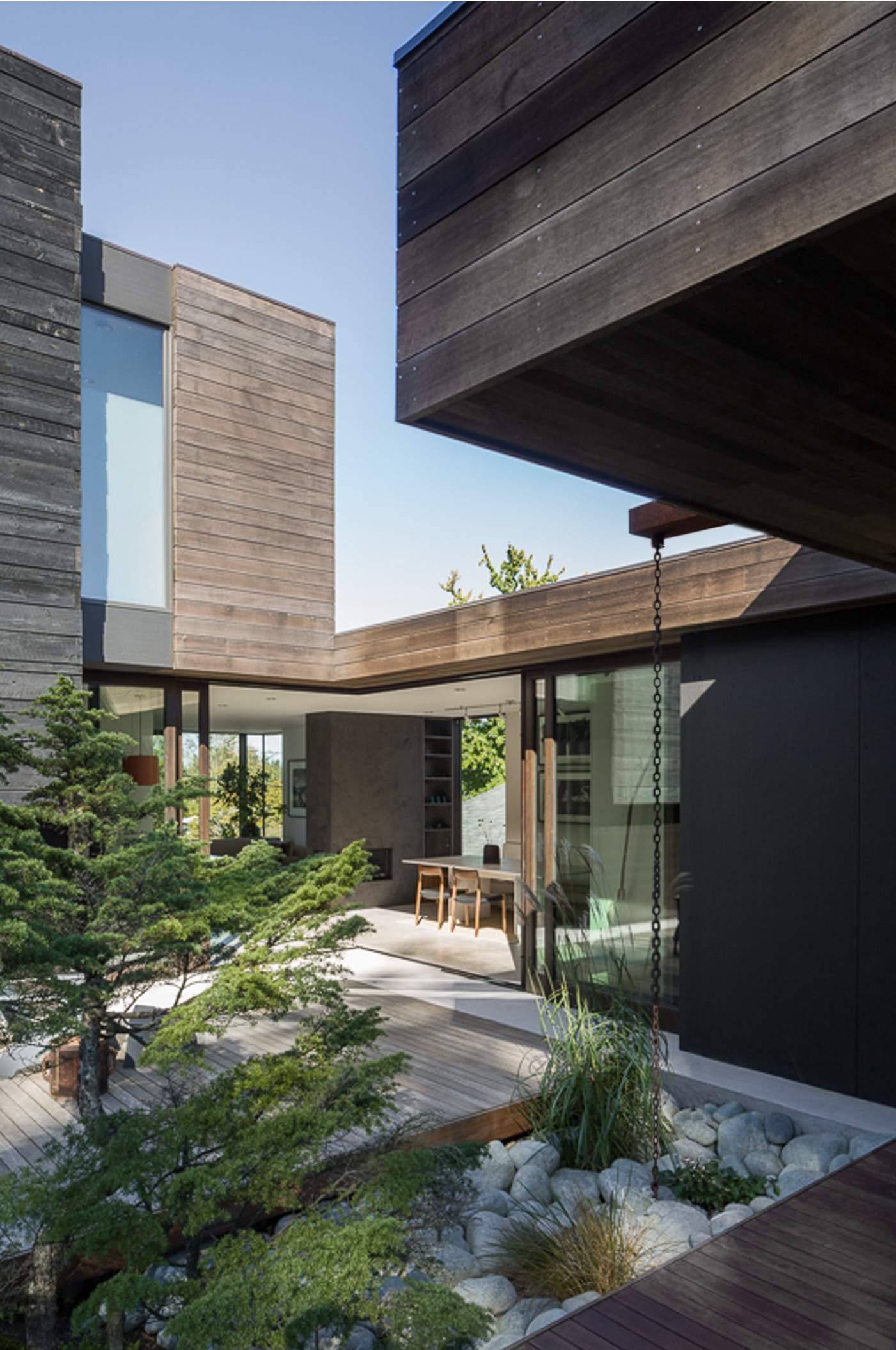 Дом в мелиорированной древесине в Сиэтле, США