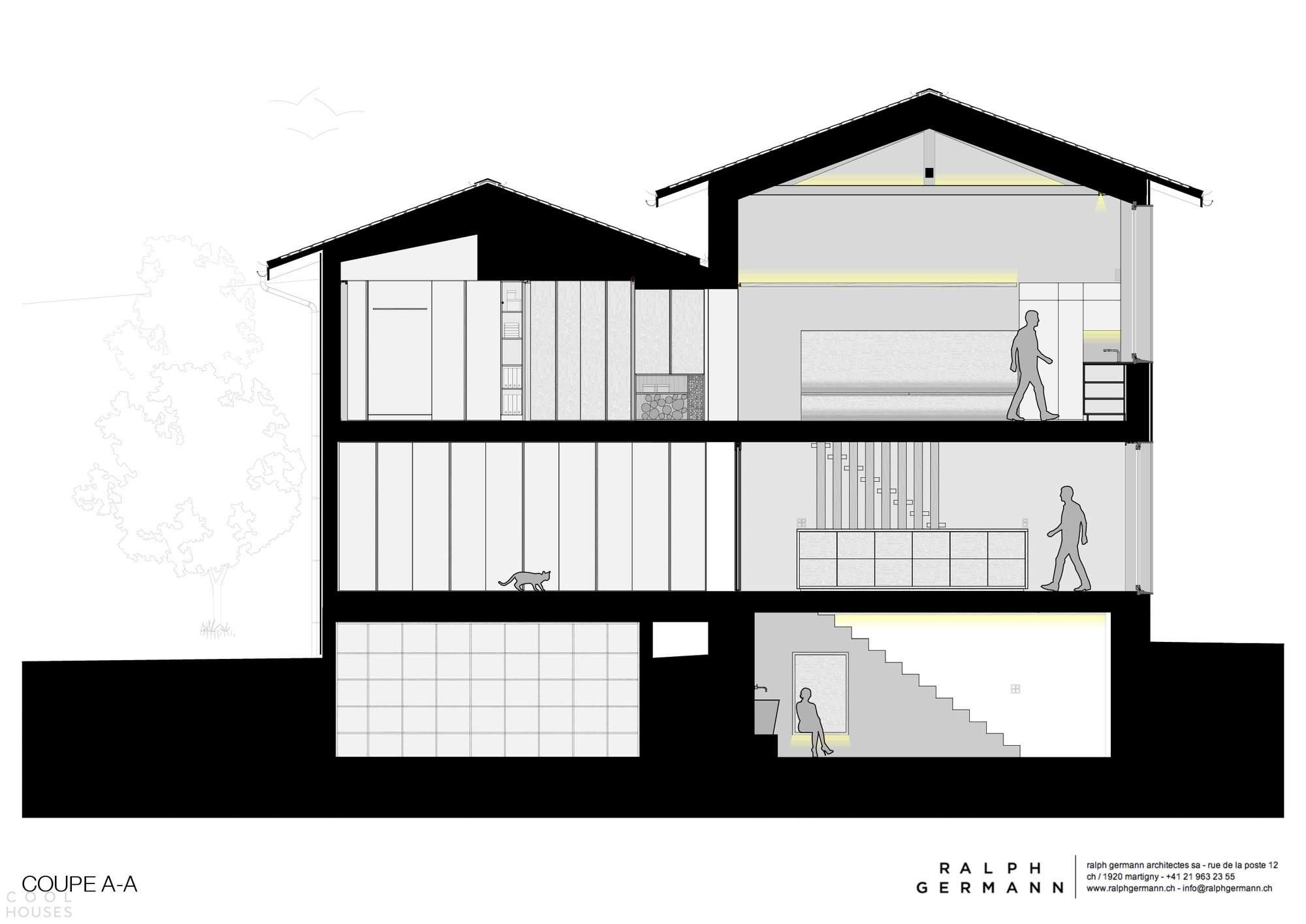Преобразование старого сарая в современный семейный дом, Швейцария