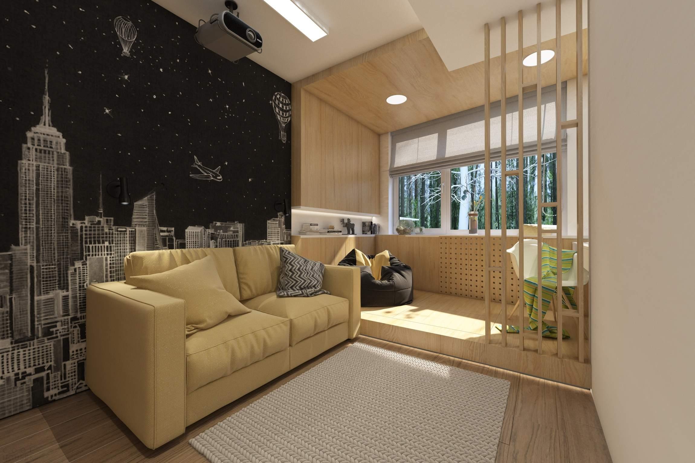 Стильная современная квартира в лесу, Украина