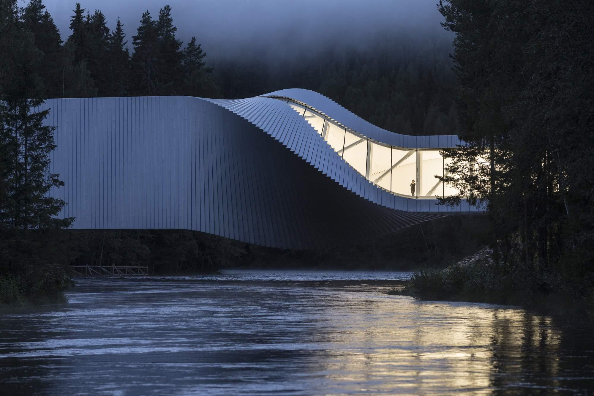 Архитектурное чудо – мост Twist, Норвегия