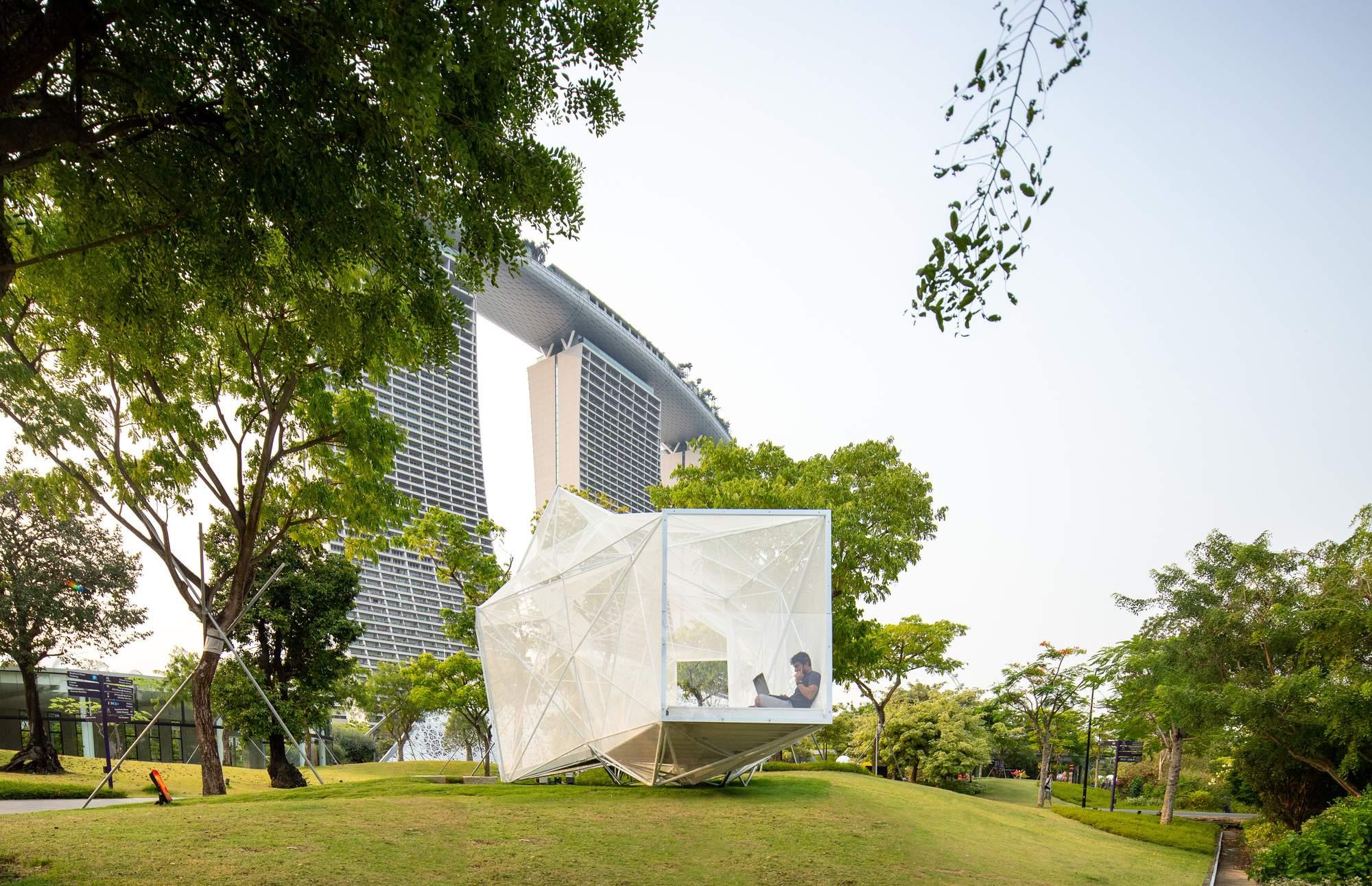 Павильон AirMesh в Сингапуре