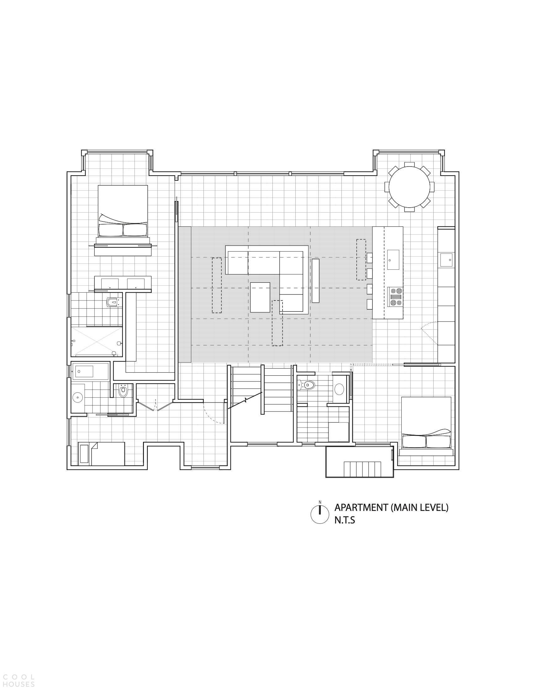 Резиденция с гибким функциональным пространством, США